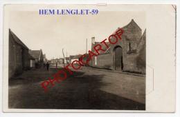 HEM LENGLET-Carte Photo Allemande-Guerre 14-18-1WK-Frankreich-France-59-Feldpost - Cambrai