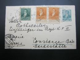 1893 , Carta Postale     A  Alemania - Cartas