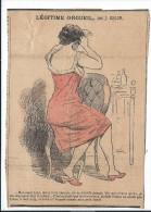 """Revue satyrique/""""Rire""""?,""""Frou Frou""""?,""""P�le M�le""""?/Coupure de dessin humoristique/Jos� BELON/entre 1895-1905    ERO6"""