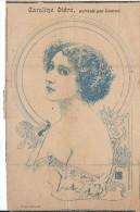 """Revue satyrique/""""Rire""""?,""""Frou Frou""""?,""""P�le M�le""""?/Coupure de dessin /Caroline OTERO/CONRAD/entre 1895-1905    ERO7"""