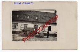 HEM-CAFE-A St ELOI-Non Situee-Carte Photo Allemande-Guerre 14-18-1WK-Frankreich-Fran Ce-59-80- - Non Classificati