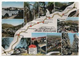 Les Grandes Routes Touristiques--Dôle,Arbois,Morez,Gex,Genève--cpsm 15 X 10  éd M.Poil - Cartes Géographiques