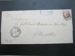 1865, Lokalbrief  Kopenhagen - 1864-04 (Christian IX)