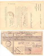 001, Billet de train � demi-place PLM 1915 Grenoble-La Plaine Fronti�re (Suisse) + Bon de r�duction Universit� de Grenob