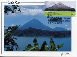 CR32. COSTA RICA (2009) - Carte Maximum Card - Volcan Arenal / Arenal Volcano - La Fortuna - Parques Nacionales 2009 - Vulcani