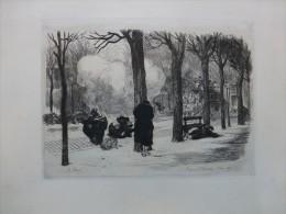 Commune De PARIS, Place De L´Observatoire En 1871,  Superbe Eau-forte XIXè Lançon,    Planche 30X43 Cm ; Ref201 - Prints & Engravings