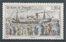 "Saint Pierre And Miquelon, Ship ""Jeanette"", World War I, 2014, MNH VF - Nuovi"