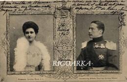 WILHELM ERNS- GROSSHERZOG VON SACHSEN WEIMAR-EISENACH- PRINZESIN CAROLINE REUSS - Personajes Históricos