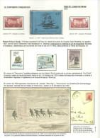 ANTARTIDA - ROBERT F. SCOTT - TARTETA WREND 1901 + 5 SELLOS Y CARNET G. BRETAÑA - Polar Explorers & Famous People