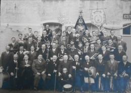 ancienne photo 26,5 sur 21  soci�t� royal fanfares Sainte C�cille de  Ghislenghien