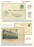 ANTARTIDA - CONGRESO GEOGRAFICO INTNAL 1899 - TARJETA ENTERO POSTAL + POSTAL MATASELLADA - International Polar Year