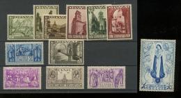 ORVAL 1933  363/374 **  Cote 3005 E  Luxe - Belgique