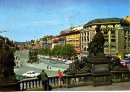 Carte Postale  Praha, Prague, Vaclavske Namesti, Place Venceslas, Theatre National  Republique Tcheque - Tchéquie