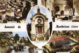 42 MONTBRISON , Vue Generale,palais De Justice,jardin D'allard,caserne Des Gardes,salle D'assises - Montbrison