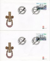 GREENLAND 2003 Ships On 4 FDC's.  Michel 407-10 - FDC