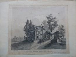Paris MONT-ROUGE Vue D'une Ferme, Eau-forte De Lesueur, XIXème, Ref 212 - Prints & Engravings