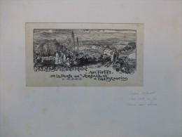 Auguste LEPERE, Paris Pittoresque, TB Gravure ORIGINALE Sur Papier De Chine, Ref 225 - Stiche & Gravuren