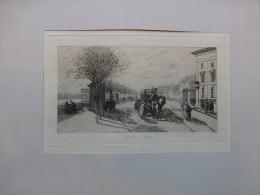 Commune De Paris, Barrière De Passy, Eau-forte ORIGINALE, Ref 226 - Prints & Engravings