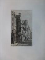Paris Rue Du Temple, Hôtel BARBETTE,  Eau-forte ORIGINALE XIXème, Ref 229 - Prints & Engravings