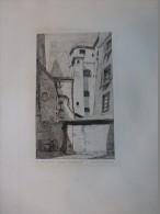 Paris Rue Phelippeaux, Passage De La Marmite,  Eau-forte ORIGINALE XIXème, Ref 231 - Prints & Engravings