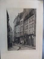 Paris 04  Du Renard-Saint-Merri,  Eau-forte ORIGINALE XIXème, Trimollet, Ref 232 - Prints & Engravings