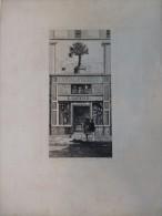 Vieux Paris Rue Du  Temple, A L´Orme Saint-Gervais,  Eau-forte ORIGINALE XIXème, CHAUVET, Ref 234 - Prenten & Gravure