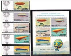 Penrhyn 1983 Manned Flight - Airships, Balloons Minisheet + Set Of 5 MNH - Penrhyn