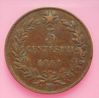 Italy 5 Centesimi 1861 - 1861-1878 : Victor Emmanuel II