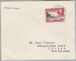 "BERMUDA 1936-06-15 Hamilton ""PrintesMatter"" Nach Zürich - Bermudes"