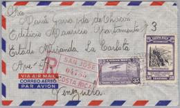 COSTA RICA 1956-10-18 R-Brief Von San Jose Nach Venezuela - Costa Rica