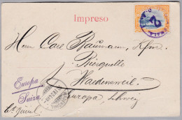 Guatemala 1904 - PK Nach Wädenswil - Guatemala