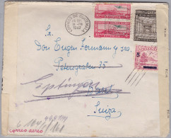 Guatemala 1942-12-24 3Fach Zensurbrief Nach Basel Nachges. Eptingen - Guatemala