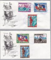 "HAITI 1959-10-30 Mi#586-591 Auf 2 Briefe Zuschlag ""pour Le Sport"" - Haïti"