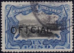 Mexico Dienst Oficial Un Peso 1910 Mi#62 Gestempelt - Mexique