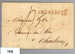 Complete Brief Van Antwerpen Naar Charleroij Zonder Datum (1815-1830) - 1815-1830 (Holländische Periode)