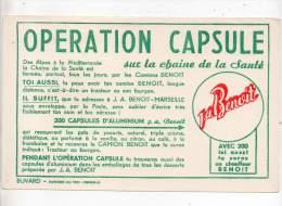 Buvard - Opération Capsule Sur La Chaine De La Santé - Carte Assorbenti