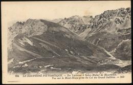 Du Lautaret à Saint- Michel De Maurienne.- Vue Sur Le Mont Blanc Prise Du Cil Du G. Galibier - France