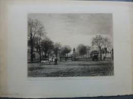 Vieux Paris,Marché Aux Chevaux,  TB Litho ORIGINALE XIXème , 1874, Ref 268 - Prints & Engravings