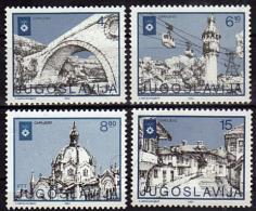 YOUGOSLAVIE   N° 1838/41  * *    Jo 1984 Pont Minaret Telepherique Eglise - Ete 1988: Séoul