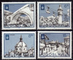 YOUGOSLAVIE   N° 1838/41  * *    Jo 1984 Pont Minaret Telepherique Eglise - Summer 1988: Seoul