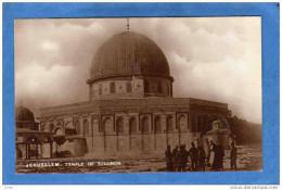 JERUSALEM -TEMPLE OF SOLOMON -parvis  Du Temple Animée-années 1910-20 - Palestine