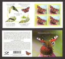 Butterflies European Peacock Butterfly Estonia 2014   Stamp Booklet Of 42 Mi 793 - Estonia