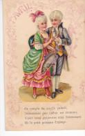 24280 1er Avril Poisson Decoupis Couple XVIII Ieme Siecle Galant -ed CA & ? Paris