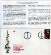 2322 FDC República Sudáfrica  Braamfontein 1981  Asociación  Cancer - FDC