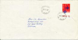 Norway Cover Sent To Denmark ST. Hanshaugen Oslo 29-3-1982 Single Stamp Skiing - Norvège