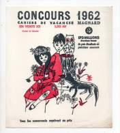 Buvard - Concours 1962, Cahiers De Vacances Magnard - Buvards, Protège-cahiers Illustrés