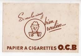 Buvard - Papier à Cigarettes O.C.B. - Buvards, Protège-cahiers Illustrés