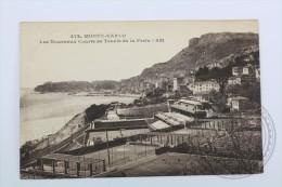 Old Postcard Monaco - Monte Carlo - Les Nouveaux Courts De Tennis De La Festa - Unposted - Monte-Carlo