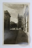 Old Real Photo Postcard Bolivia - Oruro - Esquina Plaza Principal - People & Old Cars - Unposted - Bolivia