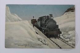 Old Postcard Peru - Anticoa - Train/ Ferrocarril Locomotive Up On The Mountain  - Unposted - Perú